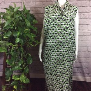 NWT Charter Club Green long 24W sleeveless dress